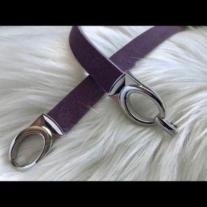 WHBM - Suede Stretch Skinny Belt - Lavender
